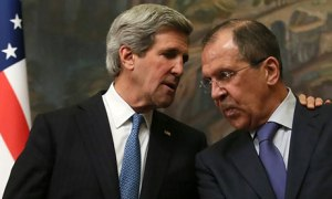 John Kerry and  Sergei Lavrov  in Moscow