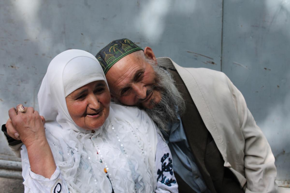vieux couple amoureux