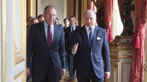 Sergey Lavrov, Laurent Fabius
