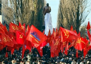 APTOPIX Ukraine Lenin